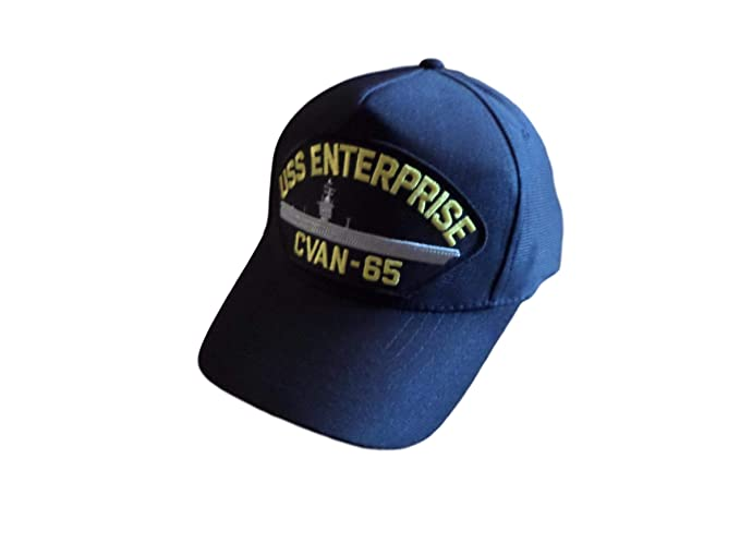 7f4c2548b8e EAGLE CREST USS Enterprise CVAN-65 Navy Ship Hat U.S Military Official Ball  Cap U.S.A