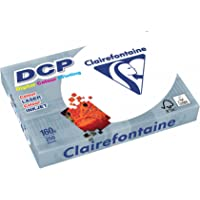 Clairefontaine 1842 DCP Papier pour imprimante (250 feuilles au format DIN A4 avec 160 grammes, papier de qualité supérieure pour l'impression couleur intense)Blanc