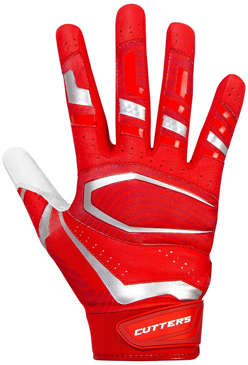 McDavid Rev Pro 3.0 Receiver Gloves B07C8JCQ7J レッド/ホワイト X-Large