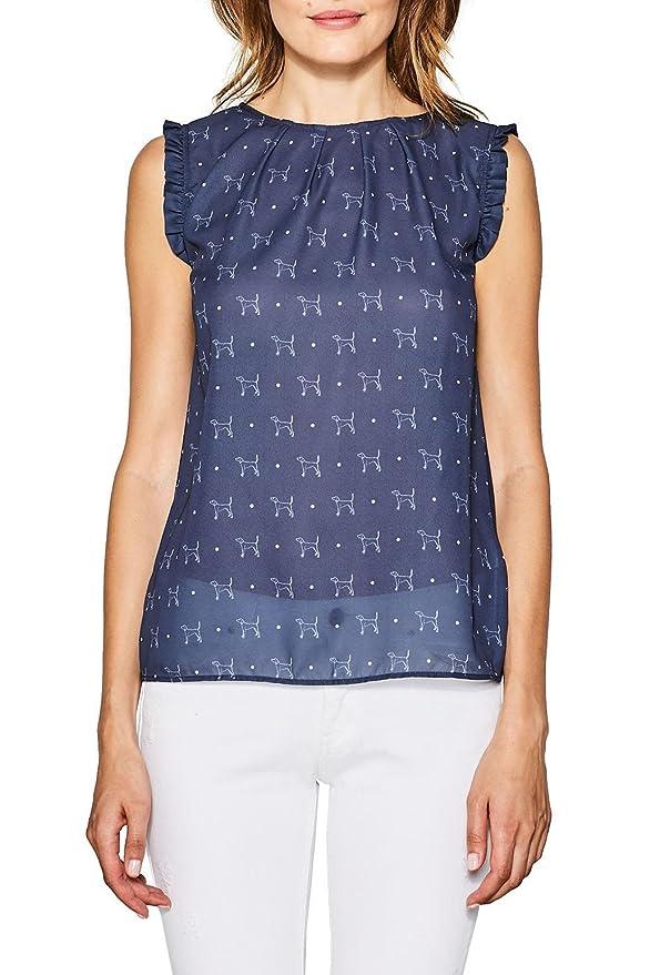 Esprit 067eo1k031, Camiseta para Mujer, Blanco (Off White 110), Medium