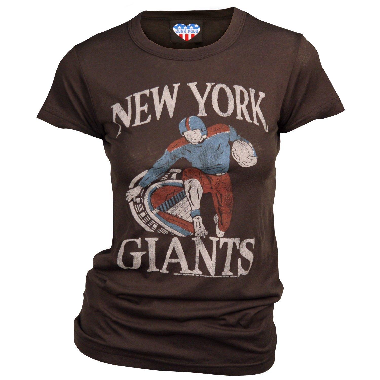 9031fd97 Amazon.com : New York Giants Women's Retro Vintage T-Shirt (Black ...