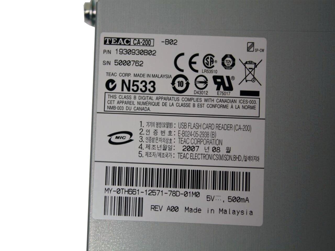 Dell XPS 720 Black TEAC CA-200 Card Reader Drivers Mac