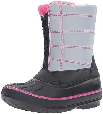 Kids Rugged Bear Girls Paw Print Snow Boots