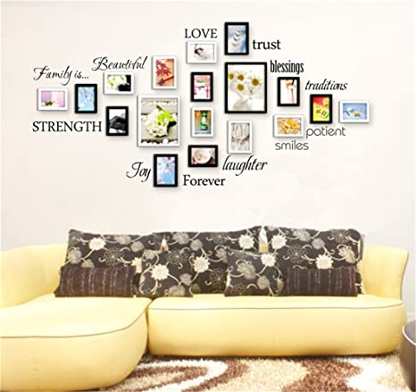 Amazon Com Stickers Vinyl Wall Art Decals Letters Quotes Decoration