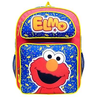 "Sesame Street Elmo 16"" Large Backpack School Bag: Toys & Games"