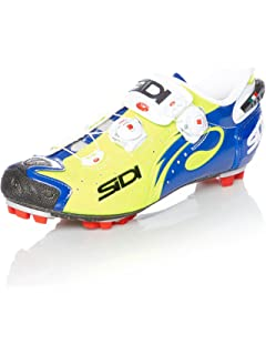Sidi Drako Carbon SRS MTB Cycling Shoes - Yellow Fluo/Blue