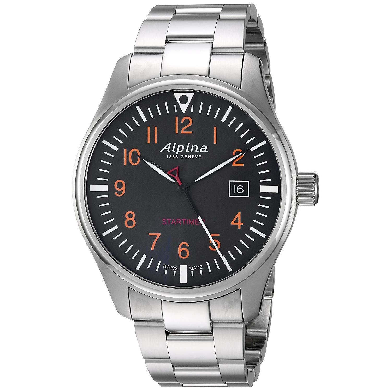 Alpina Geneve Startimer Pilot AL-240N4S6B Reloj de Pulsera para hombres Legibilidad Excelente: Amazon.es: Relojes