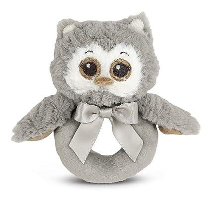 Amazon Com Bearington Baby Lil Owlie Plush Stuffed Animal Gray Owl