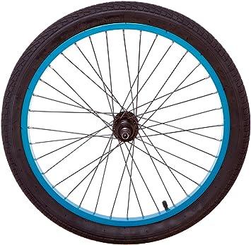 20 Cm Bleu Turquoise Arrière Vélo Bmx Roue Avec Pneu Et Chambre à Air Pour Roue De Rayons Noir Amazon Fr Sports Et Loisirs