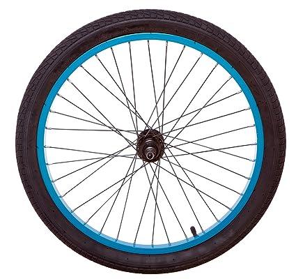 50,8 cm azul turquesa trasera para bicicleta bmx rueda con neumático y tubo (