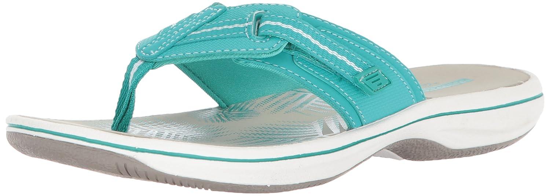 Aqua Synthetic Clarks Women's Brinkley Jazz Flip Flops