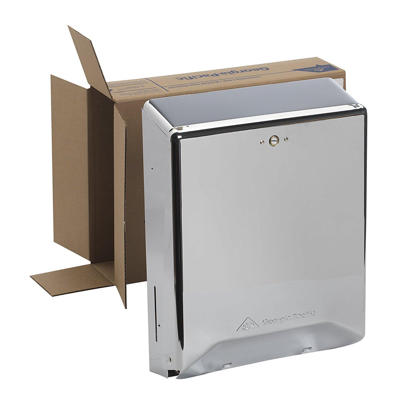 Georgia-Pacific 56620 Chrome Combination C-Fold/ Multifold Paper Towel Dispenser, 11.25'' Width x 4.438'' Depth (5 Dispenser,)