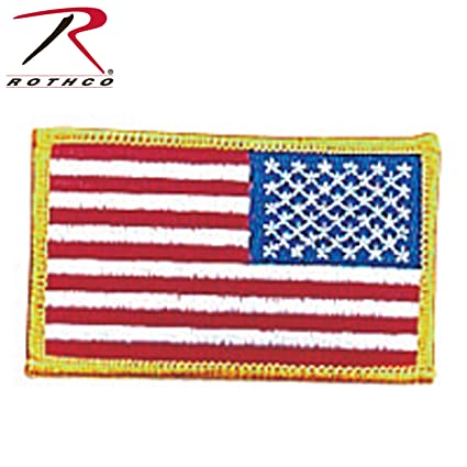 Amazon.com  Rothco Iron On Sew On Embroidered US Flag Patch 14ce86f90a2