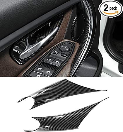 Ancher Carbon Fiber Car Reading Light Cover Trim Sticker for BMW X1 X5 X6 F20 F30 F32