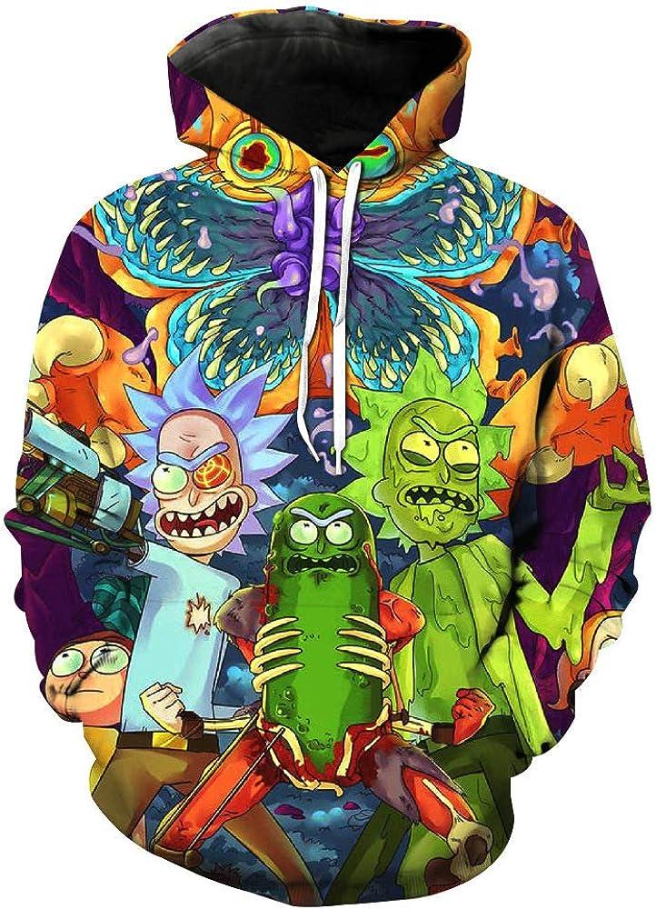 zhacaoji Unisex Pullover Casual Hooded 3D Printed Sweatshirts Hoodies Funny Cartoon Costume Casual Sportswear