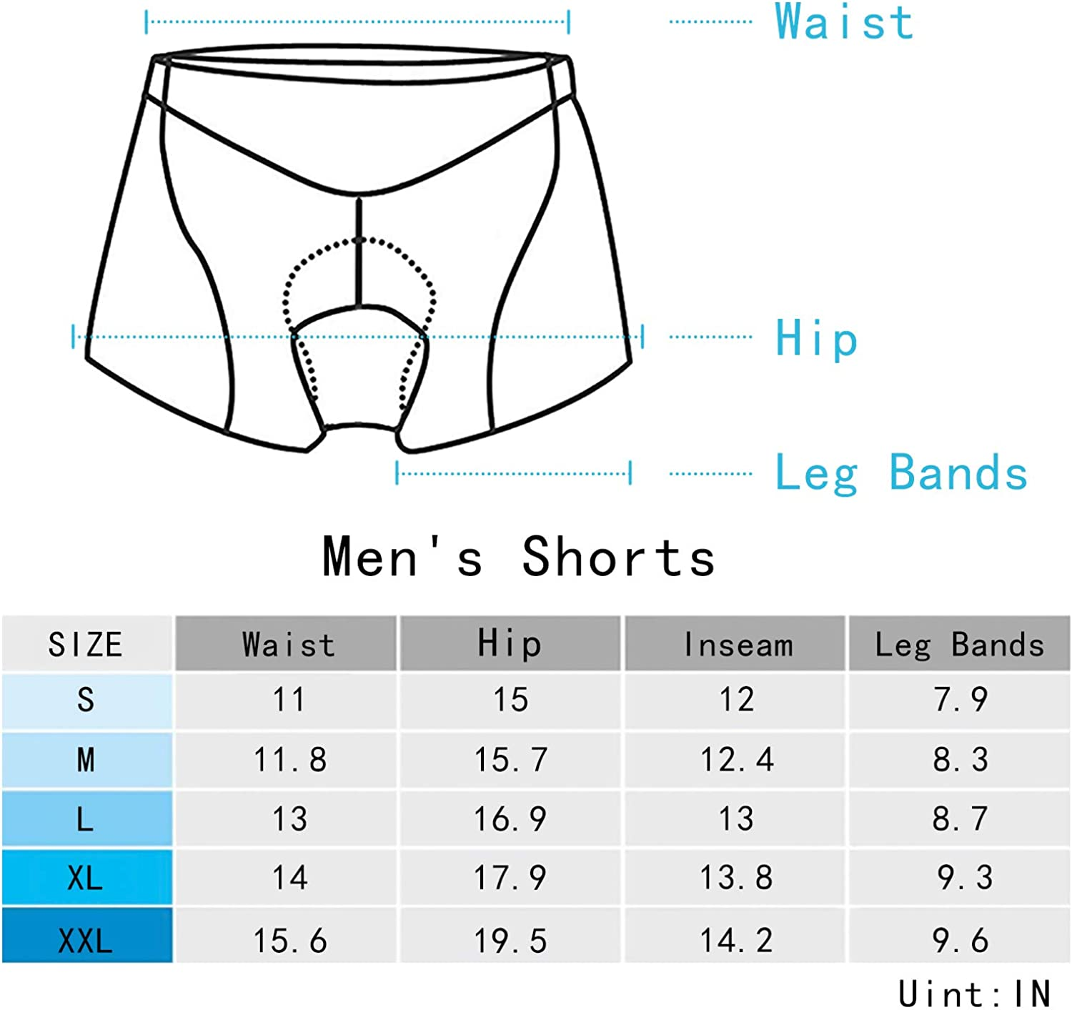 SILIK Men's Cycling Shorts Underwear ,3D Padded Bicycle Riding Pants Bike Tights Biking Clothes, Breathable & Absorbent: Clothing