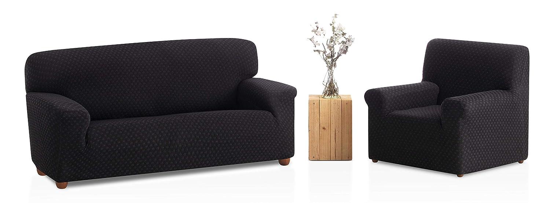 Bartali Funda de sofá elástica Olivia, 50% poliéster, 45% algodón, 5% elastómero, rojo, Tamaño 4 plazas (de 200 a 240 cm).)