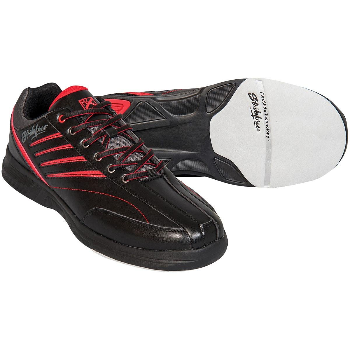 KR Strikeforce M-038-115 Crossfire Lite Bowling Shoes, Black/Red, Size 11.5