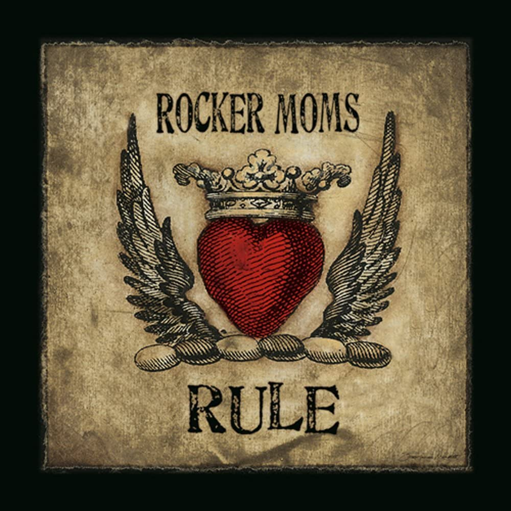 Details about  /Stephanie marrott rocker moms rule image-chassis music love heart canvas show original title