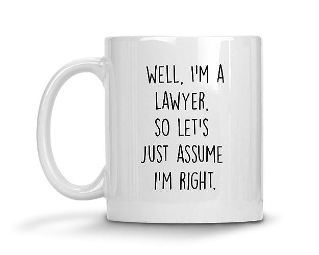 Well I\'m A Lawyer So Let\'s Just Assume I\'m Right Mug, Lawyer Mug ...