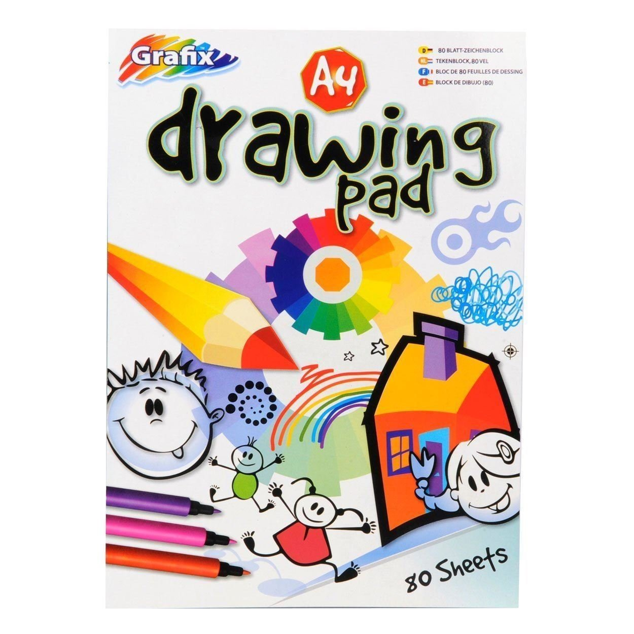 Unibos A4 White Play Paper 80 sheets per pack Art & Craft Activities Drawing New