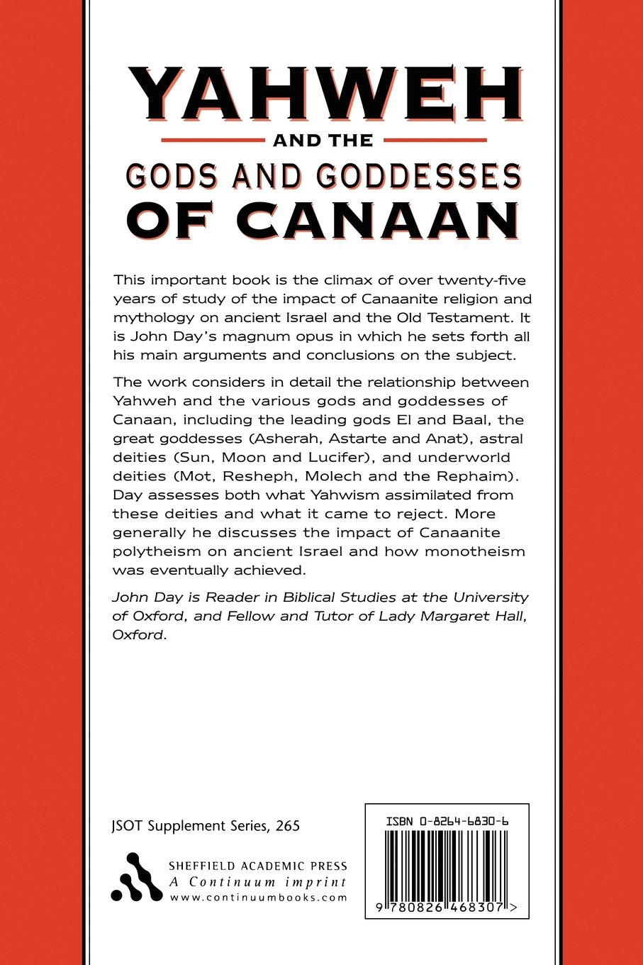 Yahweh and the Gods and Goddesses of Canaan (The Library of
