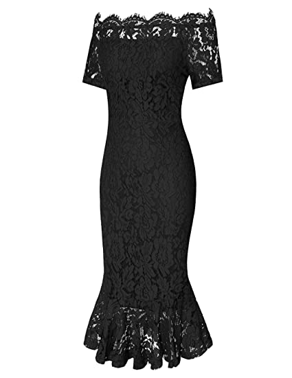 CHICIRIS Women s Vintage Off Shoulder Floral Lace Slim Cocktail Party  Evening Dress at Amazon Women s Clothing store  b53ce691d
