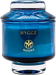 MOOXY - Hygge Candle | Orange Cedarwood & Clove Essential Oil Soy Candle | 8oz Scented Candle Jar | 45 Hours Candles Long Burning | Stress Relief Candles | Aromatherapy Candle | Man Scented