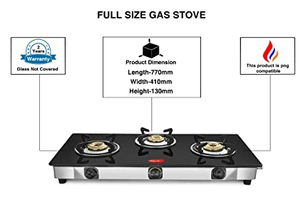 c694e81321e Buy Pigeon Sterling Full Size 3 Burner Glass Cooktop Online at Low ...