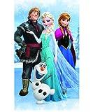 Disney Frozen 042514 Badetuch Olaf, Baumwolle velours, 70 x 120 cm