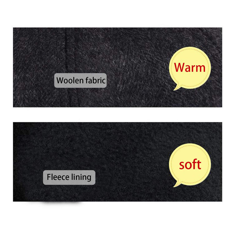 WETOO Baseball Cap Herren Winter Warme Wolle Fleece Mit Ohrenklappen Schirmm/ütze