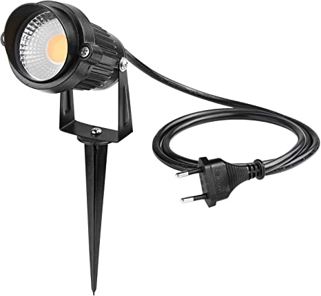 4er LED Wegbeleuchtung 5W Bodenstrahler Gartenstrahler Warm Außen mit Erdspieß