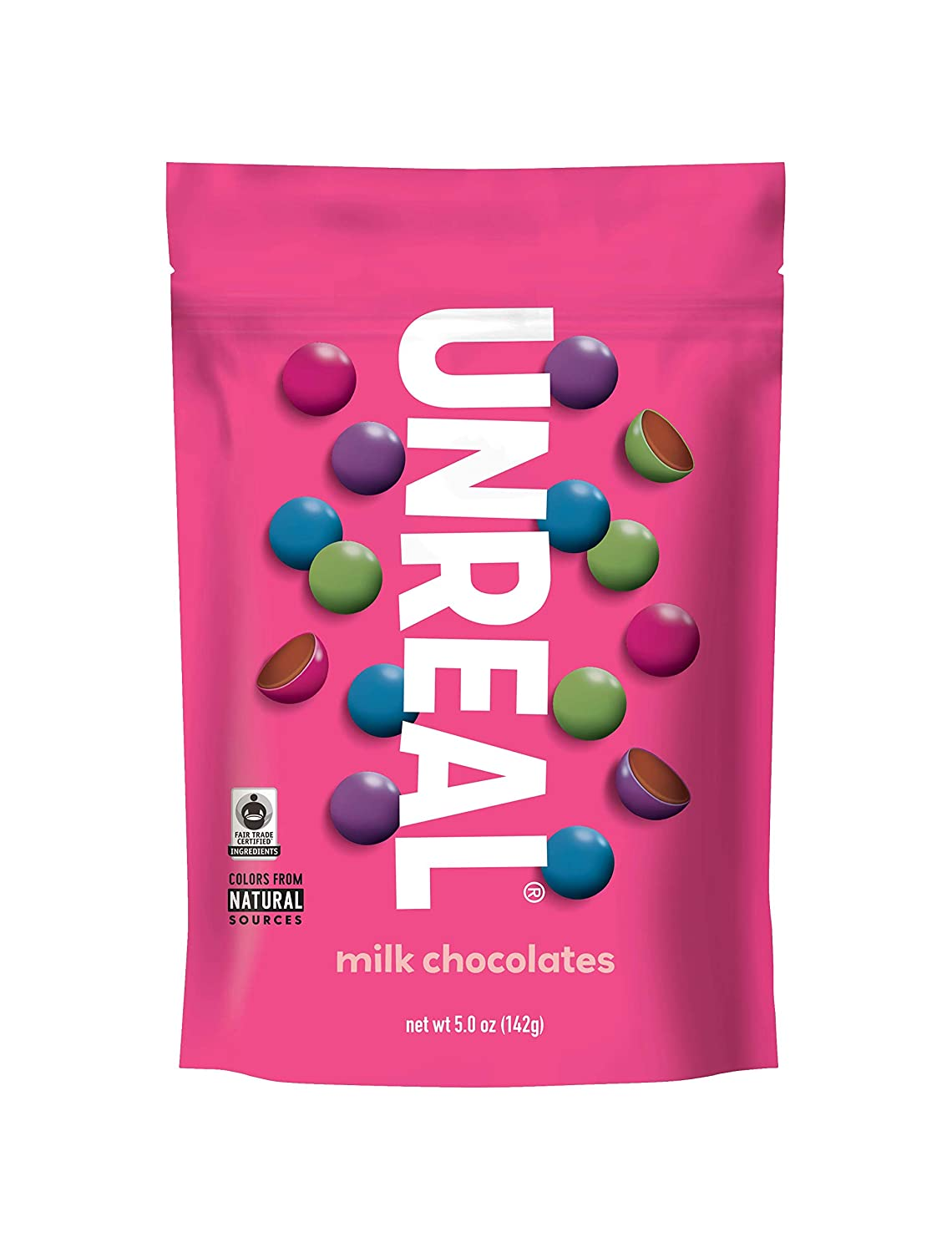 UNREAL Milk Chocolate Gems | Colors from Nature, rBST free, Nothing Artificial | 3 Bags