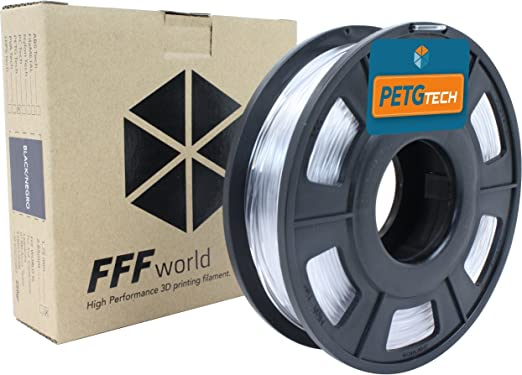 18 opinioni per PETG Tech 250 g. Transparent 1.75 mm High performance P.E.T.G. Filament for 3D