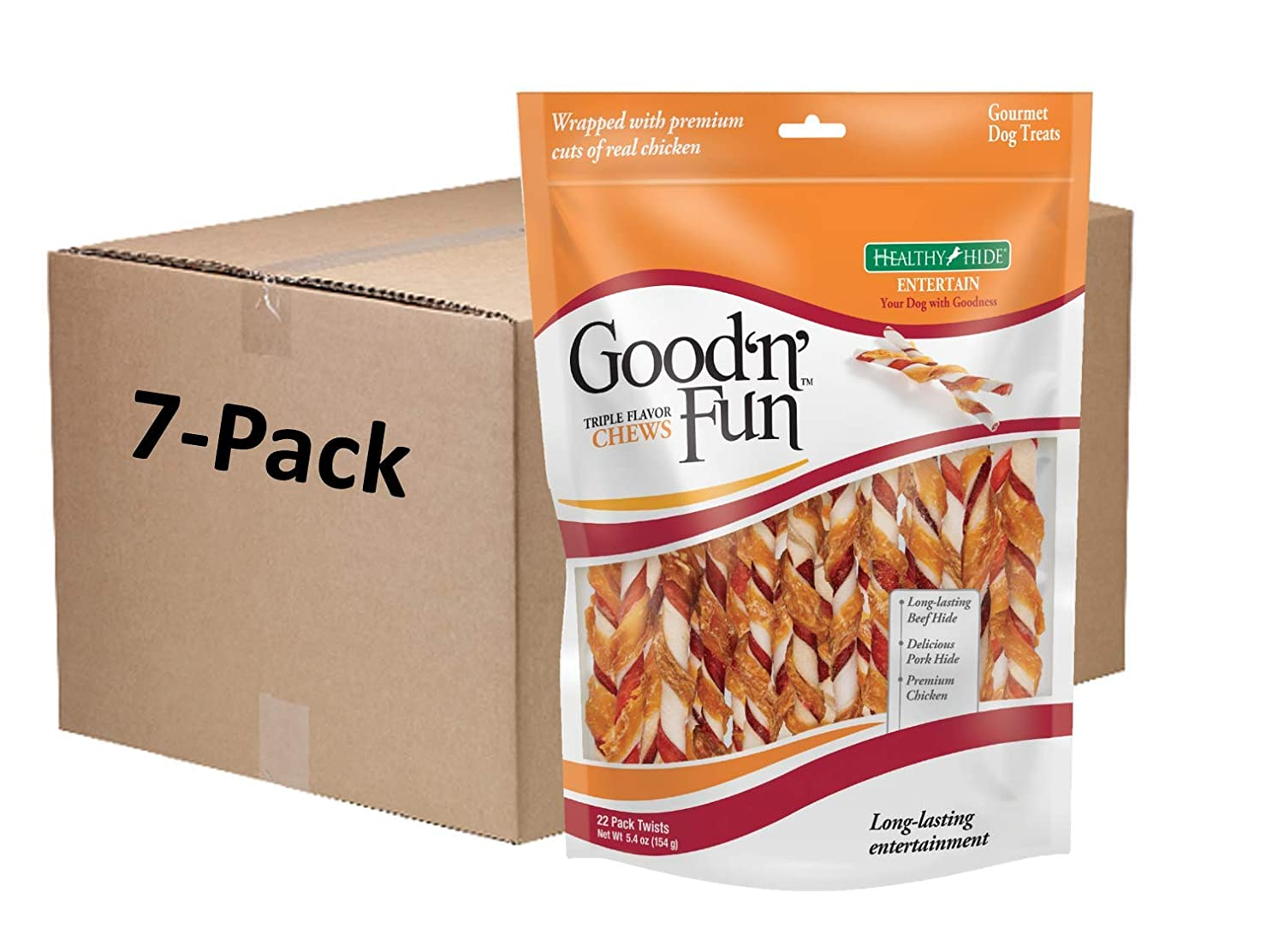 Good N Fun Triple Flavor Twist Chews for Dogs