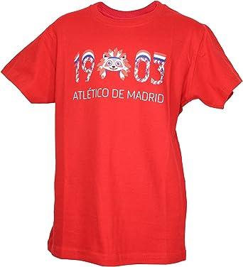 Atletico de Madrid Camiseta Print - 1903 y Indi: Amazon.es: Ropa y accesorios