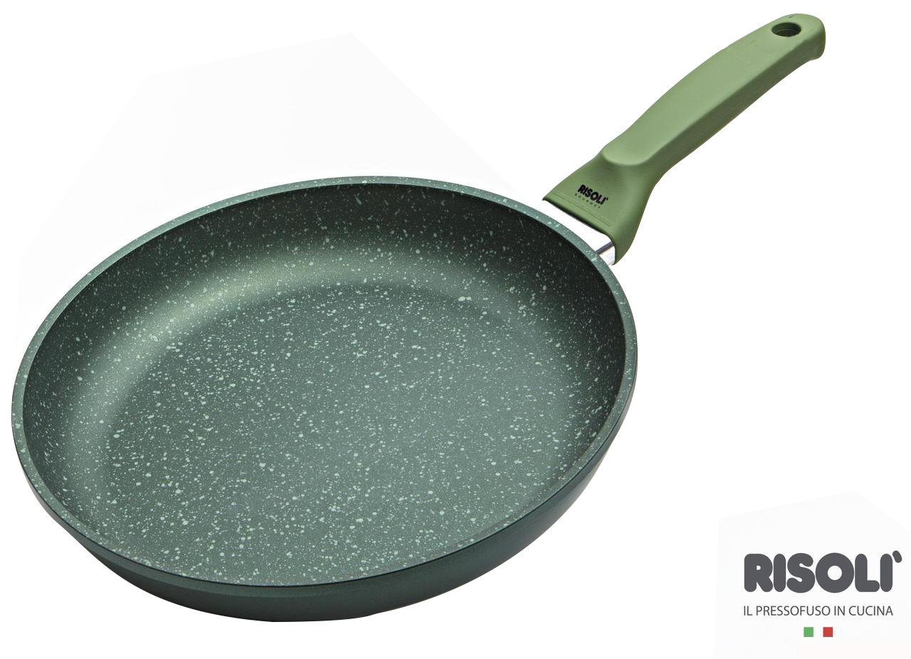 RISOLI-Sartén 24 cm, Revestimiento Antiadherente, H20 DrGreen Induction Made In Italy: Amazon.es: Hogar