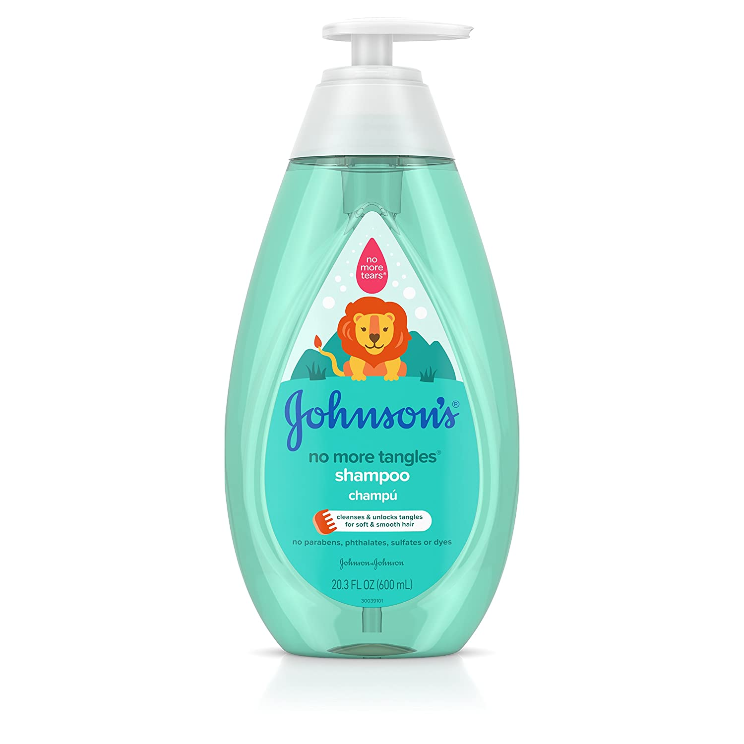 Johnson's No More Tangles Tear Free Toddler & Kids Detangling Shampoo, Paraben Free, 20.3 fl. oz