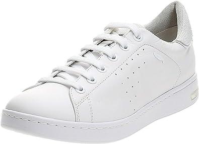 Proceso de fabricación de carreteras Hasta aquí Injerto  Amazon.com | Geox D Jaysen A Womens Leather Sneakers/Shoes | Shoes