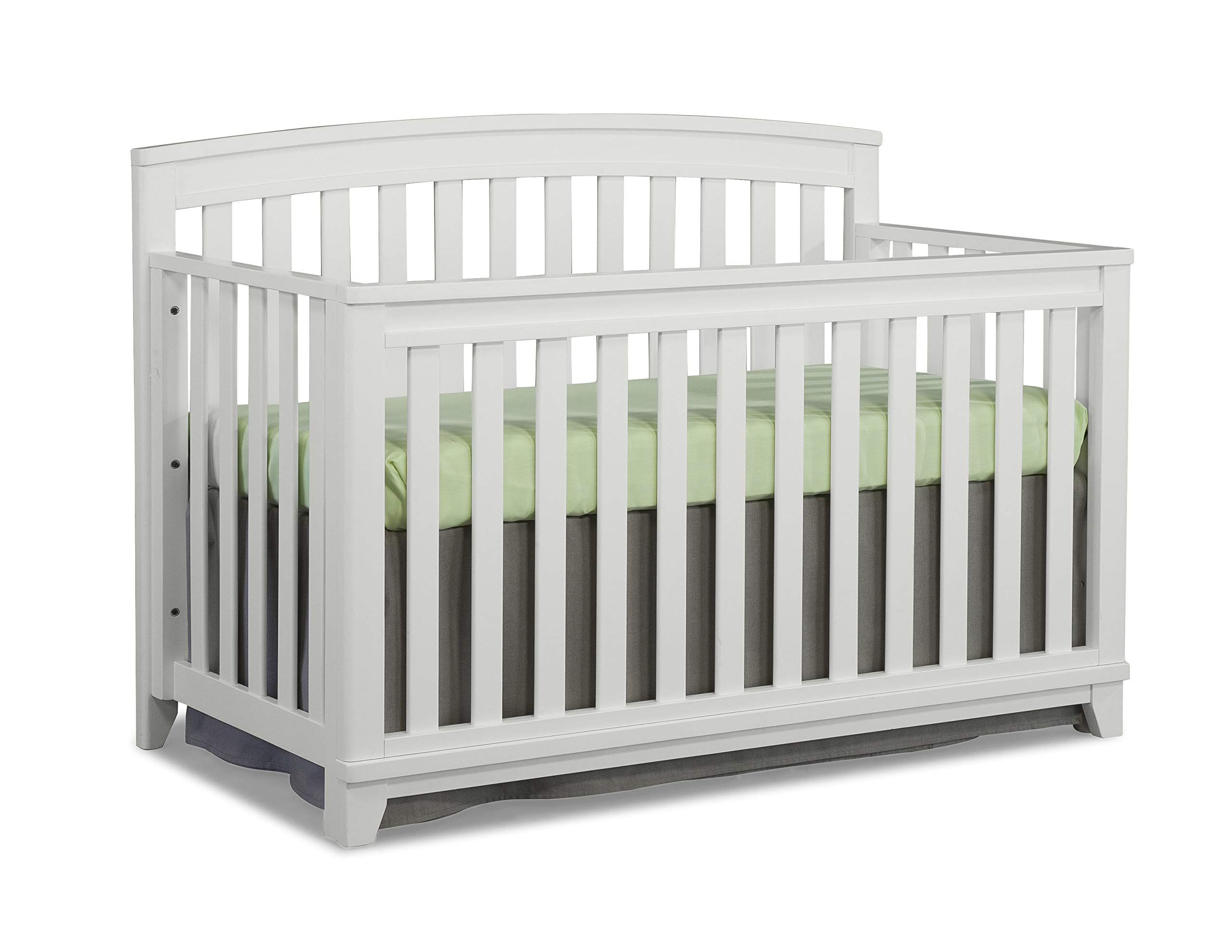 Full Size Conversion Kit Bed Rails for Westwood Design Adelle, Jonesport, Midtown (Imagio Baby) Pine Ridge, Stone Harbor & Wyatt Cribs (White)