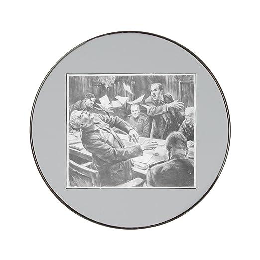 Dibujo de Joseph stalin. Metal redondo imán para nevera: Amazon.es ...