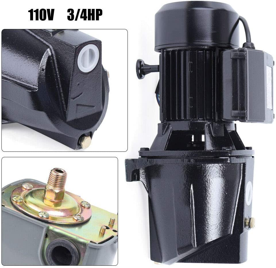 US Stock DONNGYZ 3//4 HP Shallow Well Jet Pump w//Pressure Switch Heavy Duty Jet Pump for home/&agricultural irrigation 110V 550W