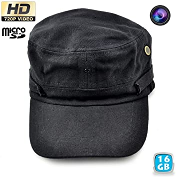 Gorra cámara espía HD 720P mini cámara negro 16 GB: Amazon.es: Electrónica