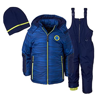 66cf8cafc Amazon.com  Ixtreme Outfitters Boys 3 Piece Snowsuit Set - Tonal ...