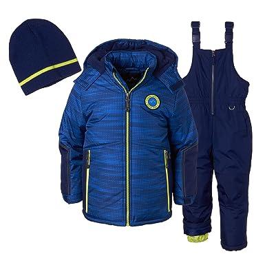 14af45b0dcca Amazon.com  Ixtreme Outfitters Boys 3 Piece Snowsuit Set - Tonal ...
