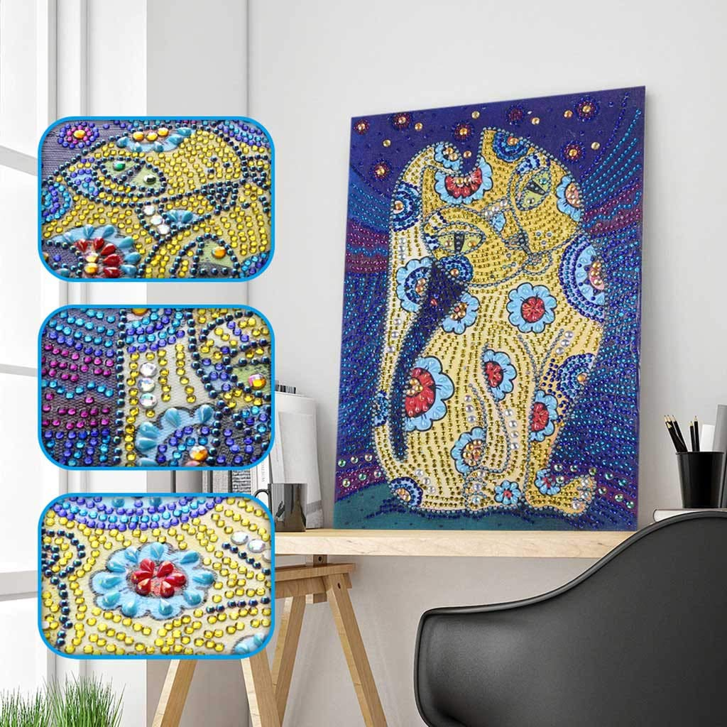 Quaanti DIY 5D Diamond Painting Kit -Colorful Butterfly- Special Shaped Diamond Embroider Mosaic Animal Painting Arts Craft for Home Wall Decor Gift Partial Drill Cross Stitch Kits Crystal (C)