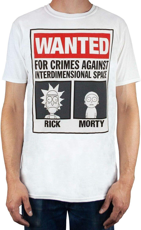 Rick and Morty Wanted Camiseta Hombre (XXXL): Amazon.es: Ropa y accesorios