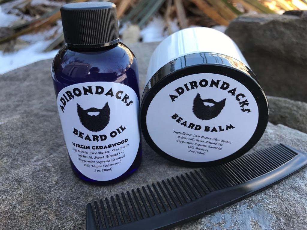 Men Beard Oil Kit 2.oz + Beard Balm 2oz + FREE Comb