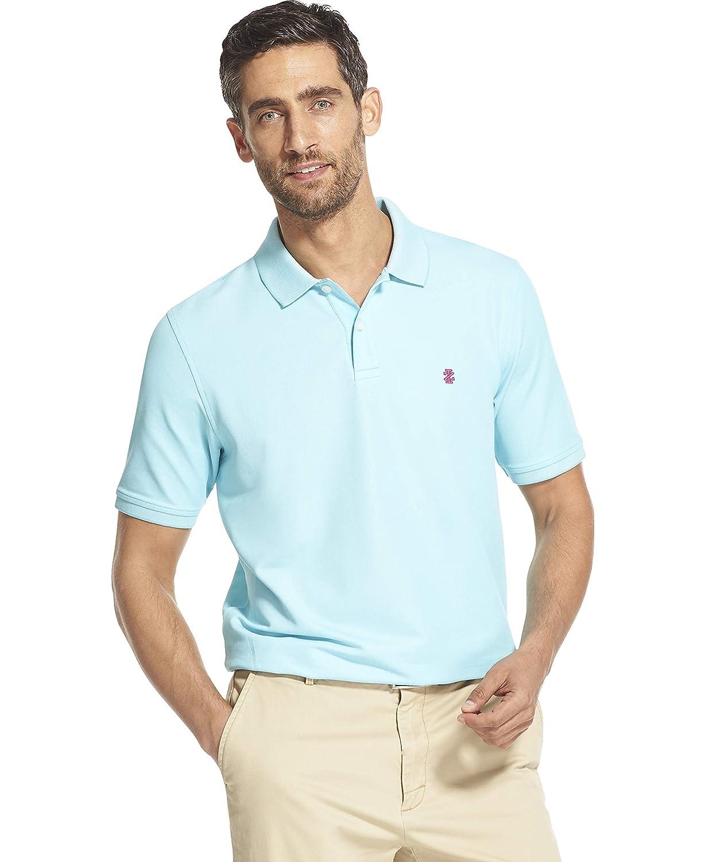 bleu Radiance M Izod Advantage Perforhommece Polo Solide pour Homme