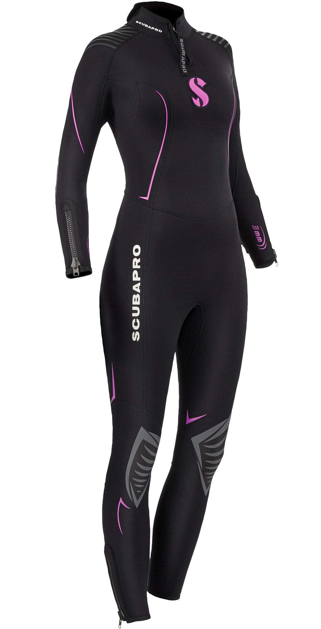 Scubapro Women's Definition Steamer 3mm Wetsuit, Small - Black/Pink by Scubapro (Image #1)